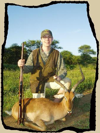 Vi havde også fornøjelsen af en ung jæger - denne impala blev